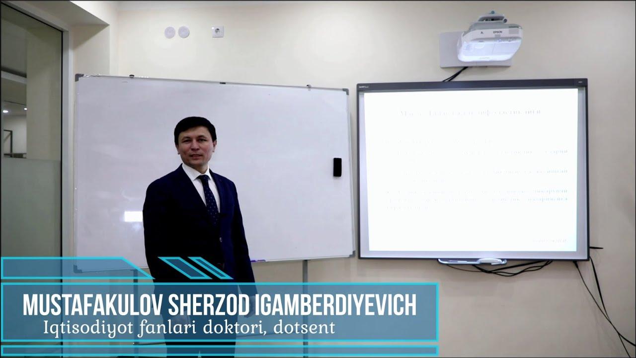 Talab elastikligi. Ma'ruzachi: Mustafakulov Sherzod Igamberdiyevich.