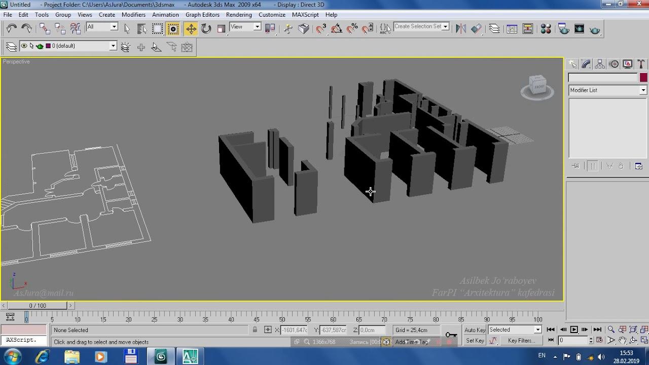 Autodesk 3ds Max 2009: 4-Dars. AutoCAD dan 3Ds MAX ga Import