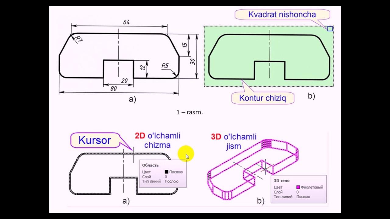 Kompyuter grafikasi 9 -mavzu (AutoCAD dasturida)