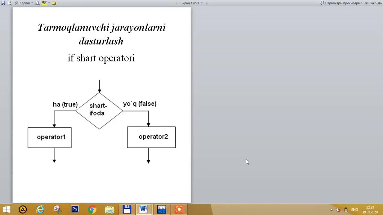 C++ dasturlash tilida tarmoqlanuvchi jarayonlarni dasturlash