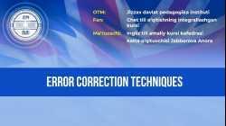Error correction techniques